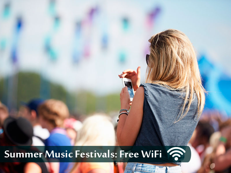 Summer Music Festivals: Finding a WiFi Connection